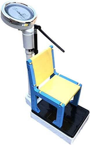 WEHOLY Balanza Balanza de Altura y Peso, balanza mecánica Profesional para niños, con Poste de Altura, Silla Desmontable, Peso de Carga 160 kg