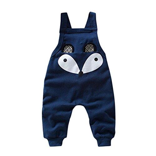 Kobay Kleinkind Kinder Baby Jungen Mädchen Fuchs Overall Strap Strampler Overall Outfits (95/3Jahr, Marine)