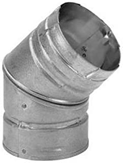 Simpson Duravent Elbow Insulated 3 Inch Double Wall 45 Deg. Steel
