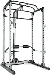 "Your purchase includes One Fitness Reality Super Max Power Cage with two chrome dual mounted safety bars and two chrome lock-on safety. Olympic bar, weight plates and bench are not included Cage dimensions – 50.5"" L x 46.5"" W x 83.5"" H 