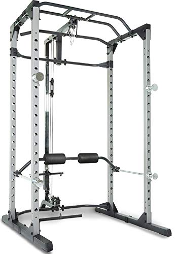 Fitness Reality 810XLT Super Max Power Cage | Optional Lat Pull-down Attachment and Adjustable Leg...