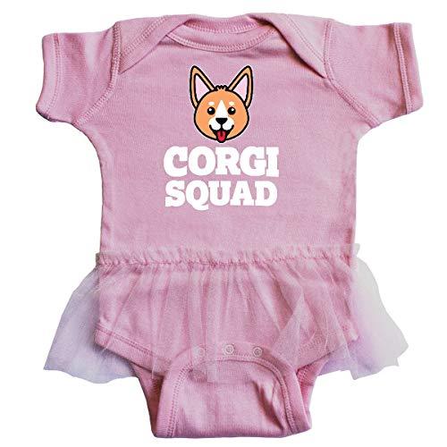 inktastic Dog Corgi Squad Infant Tutu Bodysuit Newborn Pink 39602