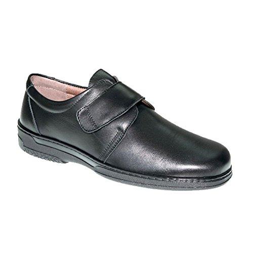 Zapato Velcro Hombre Especial para diabéticos Muy cómodo Primocx en Negro Talla 43 ⭐