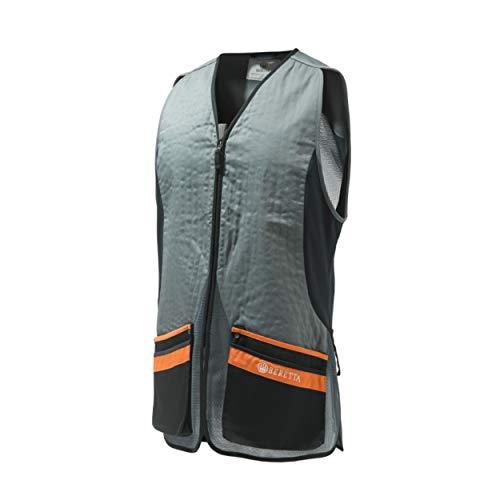 Beretta Men's Silver Pigeon Evo Range Hunting Ambidextrous Vest, Grey/Orange, Large