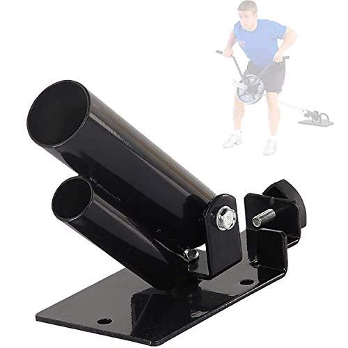 ADUGEN T-Bar Row Trainer T-Bar Ruderplattform in Schwarz für 5,2 und 3,4 cm Langhantel Bars (T-Bar Rudern/T-Bar Row)
