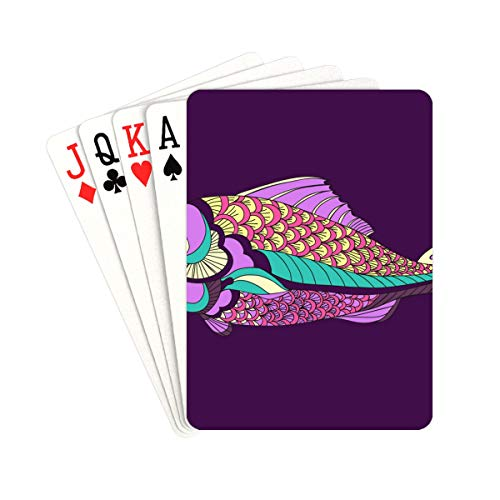 QIAOLII Children Playing Cards Adult Stress-Resistant Colorful Fish Color Playing Cards Unique For Kids & Adults Card Decks Games Standard Size