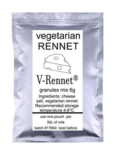 5 gránulos de cuajo en V de 6 g de bolsa de cuajo vegetariano y sal de queso