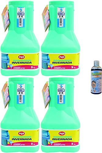 PQS Caja de 4 Dosificadores de Invernada 2 kg (4 Unidades de 2 kg.) + Regalo de clarificador de Agua 100 ml