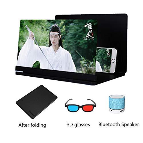 XYHWZY 20 Pulgadas 3D Amplificador Pantalla del Tel/éfono M/óvil Port/átil Lupa HD Luz Anti-Azul Zoom de 3 a 4 Veces Proteger Los Ojos Universal de Tel/éfono