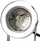 okuya Aplique De Pared De Estilo Industrial 10w 12v aluminio de los aviones al aire libre IP68 a prueba de agua LED bajo el agua de la charca piscina reflector de la luz, Spotlight peces de acuario ta