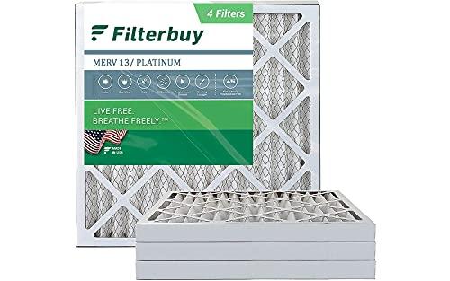 FilterBuy 20x20x2 Air Filter MERV 13, Pleated HVAC AC Furnace Filters...