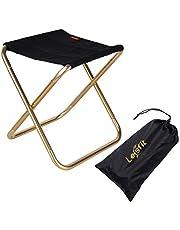 Lesfit Draagbare opvouwbare kruk, outdoor opvouwbare lichtgewicht kamp aluminium krukken stoel voor kamperen, vissen, picknicken, reizen en wandelen (30x25.5x31.5cm) …