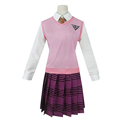 Danganronpa V3 Akamatsu Kaede Cosplay Kostüm Halloween Anime High School Krawatte Top Rock Uniform für Frauen Full Set weiblich