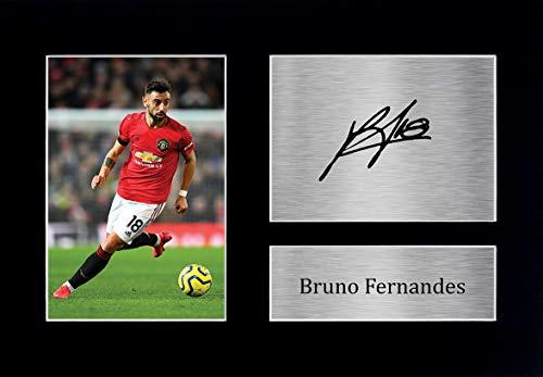 HWC Trading Bruno Fernandes Manchester United ManU Geschenke gedruckt Autogramm Bild für Fans und Unterstützer - A4