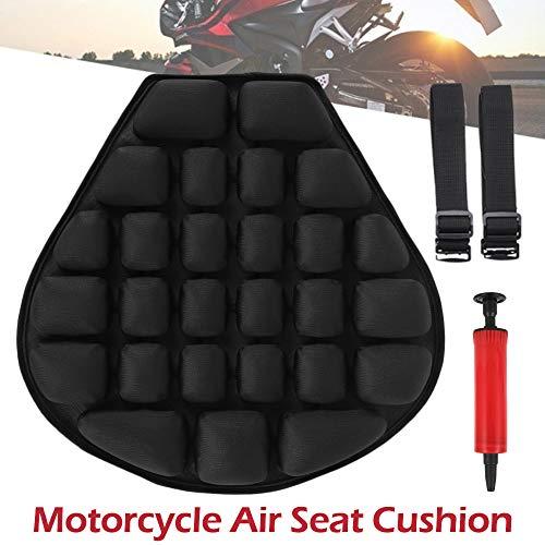 Motorrad Sitzkissen Luft, Druckentlastung, Luftpolster,3D Motorrad Sitzbank Kissen mit Wasser Gefüllt für Cruiser Satte 37,5 x 36 cm