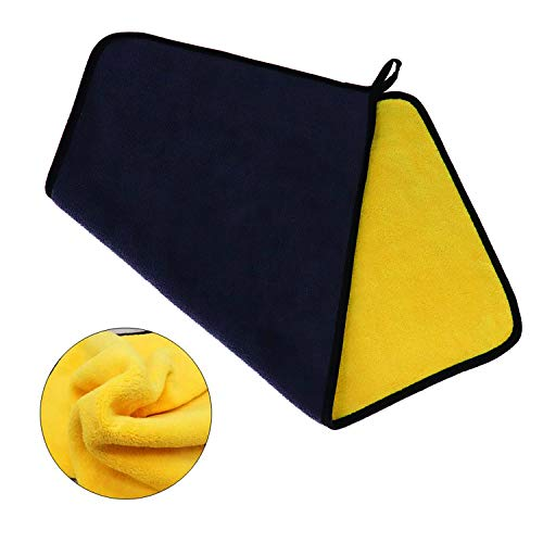 Cleaning Buffing Drying Microfibre Car Cleaning Cloths Car Drying Towel for Paint Care Polishing ZWNAV Car Care Microfibre Drying Towel 3060CM, 1 Pack