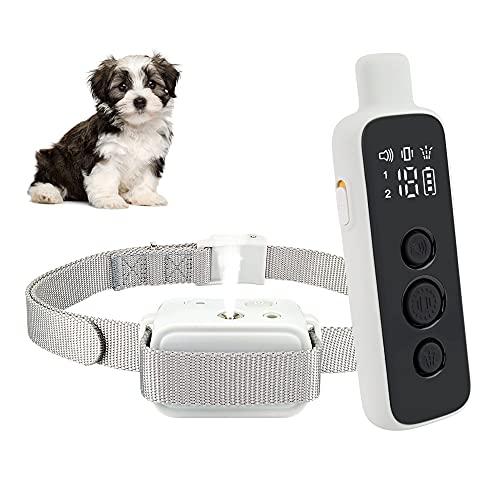 Collar de corteza de citronela, el más nuevo collar de spray para ladridos de perro, recargable, impermeable, ajustable, collar de entrenamiento antiladridos para mascotas pequeñas, medianas y grandes