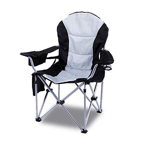 NBVCX Mechanical Parts Outdoor Padded Folding Camping Chair Heavy Duty High Back Directors Cup Holder Perfect for Home/Patio/Decking/Holiday/Beach A