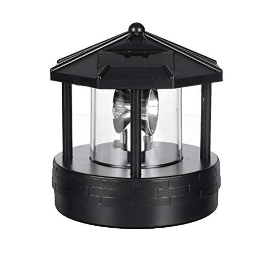 Kooshy Faro con energía Solar, Faro Giratorio LED, luz de jardín, lámpara de jardín, luz Decorativa Impermeable Decorativa para Patio de césped al Aire Libre