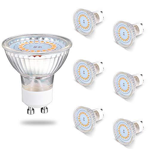 Sominue Halogen-Reflektor GU10 LED, 5W ersetzt 50W, 220V, 6er Pack, 120° Abstrahlwinkel, Energieeffirzient, Warmweiß