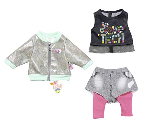 Zapf Creation 827154 Baby Born City Outfit 43cm, rosa, grau