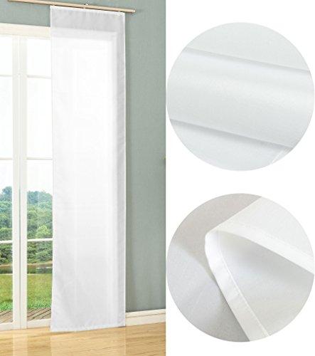 Schiebegardine Flächenvorhang Wildseide Optik Vorhang Gardine, 245x60 cm (Höhe x Breite), Weiß, 85620