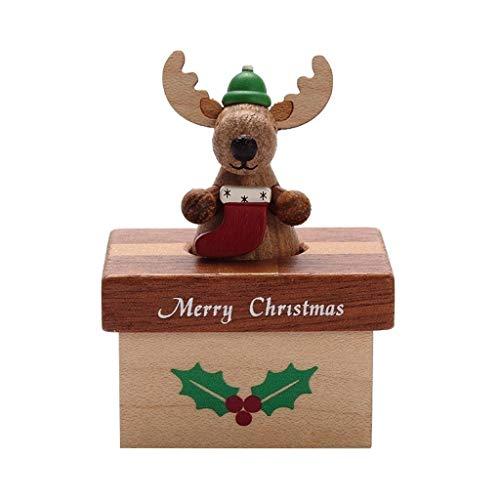 Love lamp Bois Boîtes à Musique Elk Petite Idées boîte en Bois Boîte à Musique Boîte à Musique Fille Enfant Joyeux Anniversaire Cadeau de Noël 6.5 * 5cm Cadeaux for la fête de Mariage