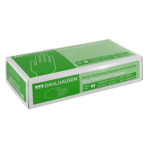 Dahlhausen Vinyl Handschuhe ungepudert 100 Stück, Größe M