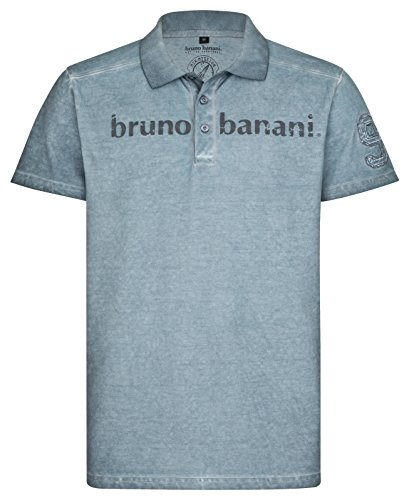 bruno banani Herren Polo Shirt in Flintstone blau, Größe XXXL