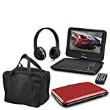 GPX GPX 9' Portable DVD Player Bundle Red