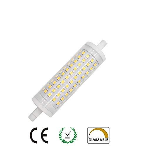 AscenLite, R7s LED-Leuchtmittel, 15 W, 118 mm, dimmbar, Warmweiß, 3000 K, entspricht 150 W Halogenlampe