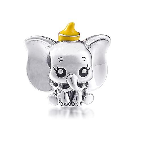 BAKCCI 2021 Día de la Madre Regalo Dumbo Bead 925 Plata DIY...