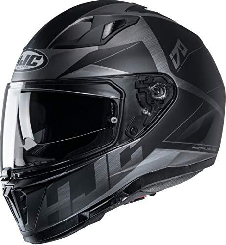 HJC Helmets Motorradhelm HJC i70 ELUMA MC5SF, Schwarz/Anthracite, L 14997509