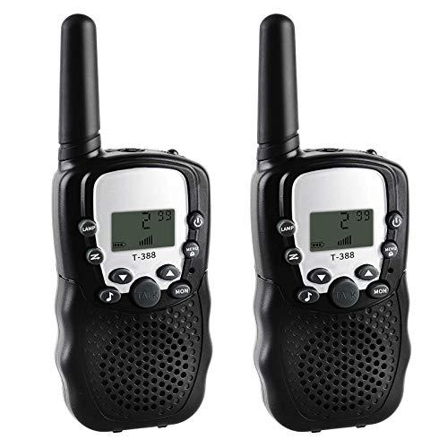 QCHEA Walkie Talkie Largo Alcance, 2 Paquetes radios de Dos vías 22 Canales con cancelación de Ruido Walkie Talkies para niños Adultos Familia Activada al Aire Libre Camping Senderismo Viajar
