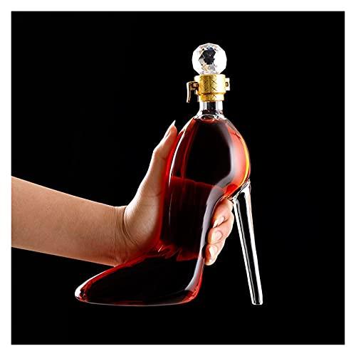Whiskey Decanter Establece Tacones Altos Decantador De Vidrio Conjunto Conjunto Personalizado para Licor Scotch Bourbon Brandy Vodka Los Mejores Regalos para Mujeres