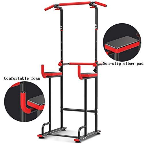 Barres de Traction Barres parallèles Simples Pull-ups Articles de Sport Multifonctions équipement de Fitness de Sports d'intérieur Domestique (Color : Black, Size : 66 * 76*(160~220) cm)