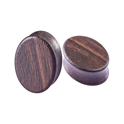 Juego de 2 dilatadores de madera para orejas y túneles de 8 a 25 mm