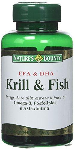 Nature's Bounty Krill & Fish, 60 Perle Softgels