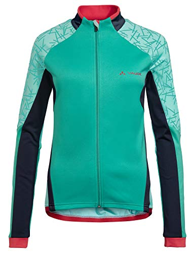VAUDE Resca Tricot II Maillot à Manches Longues Femme, Peacock, FR : L (Taille Fabricant : 42)