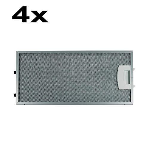 SET 4 Stück Fettfilter Metallfilter Metallfettfilter Filter eckig ORIGINAL Bosch Siemens 00435204 435204 Dunstabzugshaube passend für Constructa Gagexakt Neff