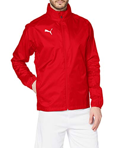PUMA Herren Liga Training Rain Jacket Core Red White, XXL