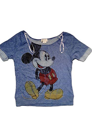 Disney Parks Mickey Mouse Icon Fashion Blue Top Sweater for Women (XS)