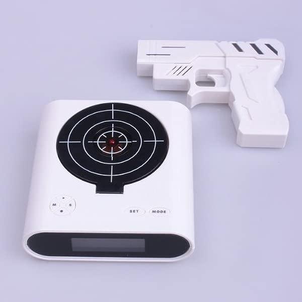 液晶显示屏红外无线目标枪闹钟
