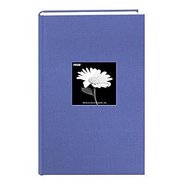 Fabric Frame Cover Photo Album 300 Pockets Hold 4x6 Photos, Sky Blue