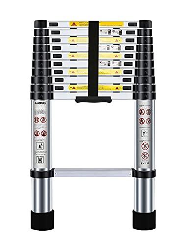 Nestling® 3.2M Scala Telescopica Pieghevole, Multiuso Allungabile Scaletta Alluminio, Carico Massimo 150 kg,Norme EN131