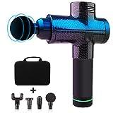 Bozaap Handheld Eletronic Massage Gun 4 Massage Heads Deep Tissue Muscle Massager Gun with 3-Speed...