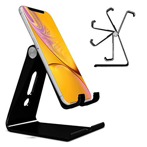 Generic N4U Online® Verstellbare, Faltbare Metallhalterung für Mobiltelefone, für Videocon Infinium 30 Dartpfeile