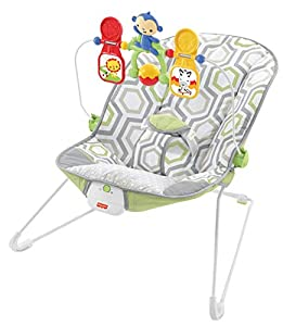 Fisher-Price Baby Bouncer - Geo Meadow, Infant Soothing and Play Seat from Fisher-Price