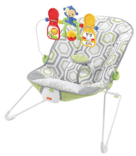 Fisher-Price Baby Bouncer - Geo Meadow, Infant Soothing and Play Seat