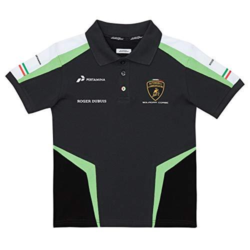 Lamborghini Squadra Corse Herren Team-Poloshirt GT GT3 Team Racing, Weiß, weiß, Mens (XS) Chest 34 inches